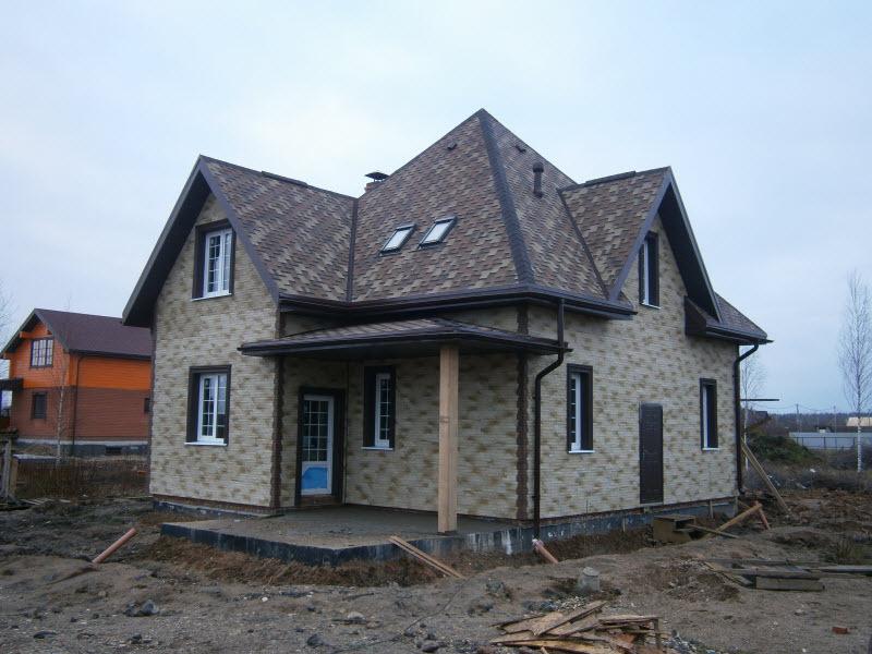 Дом из арболита своими руками фото